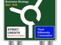 Street Credits Sign