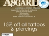 Asgard Tattoo and Piercings Offer